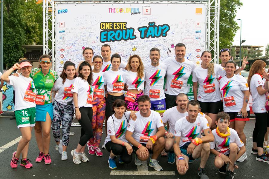 Catena Racing Team la The Color Run Sunset - Mamaiaaaa