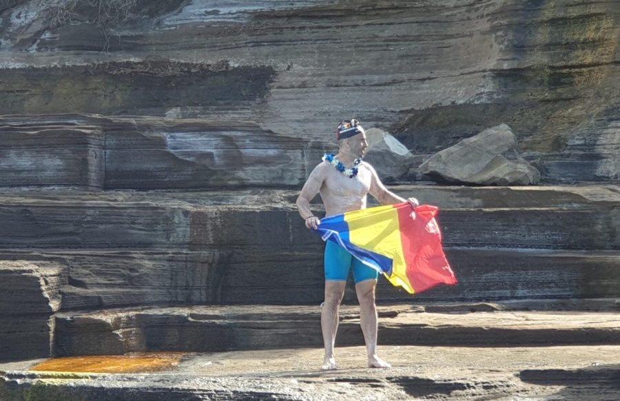 Paul Georgescu a traversat inot canalul Molokai!!!