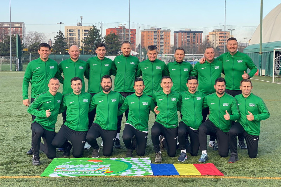 Catena Racing Team, vicecampioana turneului european de fotbal de la Milano