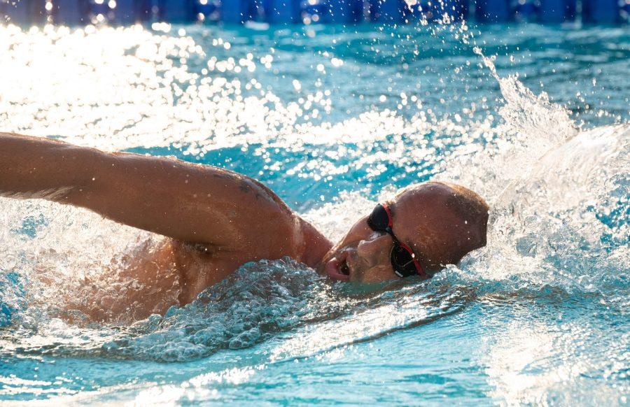 Paul Georgescu, 100 km inot in bazinul olimpic LIA MANOLIU